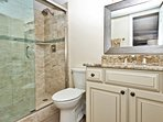 Private Master Bath Glass Shower