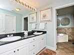 Private Master Bath Double Granite Vanity