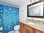 Hallway Bathroom with Granite Vanity