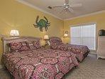 1st Floor Guest Bedroom - 2 Queens