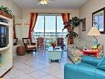 Living Room with Marina Views