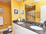 Private Master Bath with Double Granite Vanity