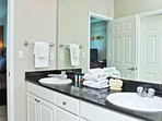 Private Master Bath with Double Vanity