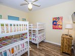 Guest Bedroom with 2 Twin Bunks