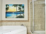Master Bath Jacuzzi Tub and Glass Shower