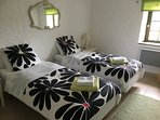 Park Cottage ground floor twin OR super king bedroom with ensuite bath (shower over)
