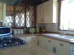 Kitchen with gas hob and electric oven