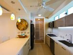 kitchen with laundry room/pantry at the end