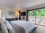 Enjoy a view from the master bedroom or draw the blackout blinds for rest