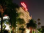 Our home is right behind the infamous Hollywood Roosevelt Hotel