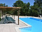 Stunning private pool with new shaded area