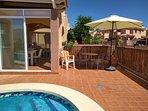 Glazed veranda and patio area