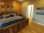 Master Bedroom opens to first floor deck and hot tub
