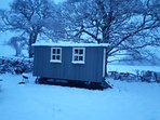 Our cosy hut in Winter