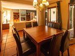 Extendable dining table - 14 chairs