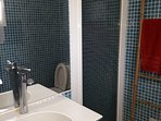 Petite Salle de bain avec douche et toilettes de la chambre n°2