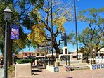 Visit The Historic Taos Plaza; shops, artist galleries, have lunch!