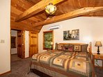 Upstairs King Master Suite with Flat Screen TV and Private Bathroom with Walk-in Shower