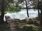 Dock, Paddle Boat and Table/Chairs all to enjoy the Beautiful Views of Green Lake