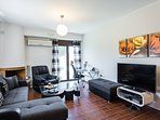 Living room area with direct access to the garden, 50' smart tv and Playstation3