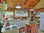 The fully equipped kitchen has everything you need to prepare delicious meals.