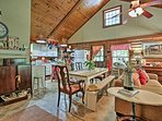 With an open floor plan, the cabin makes it easy for everyone to be together.