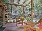 The porch will quickly become your favorite place to spend time.
