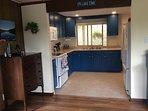 Fully stocked newly renovated kitchen