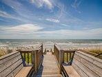 Beach Access benches