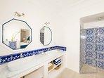 first bathroom en-suite with shower