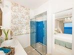 second bathroom en-suite with shower
