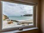 Sea views from the front bedrooms