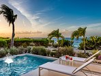 Beachfront Villa Sandpiper 2BR. Amazing views of Grace Bay & private pool!