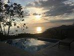 Beatiful Sunset from Pool