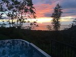 Colorful Sunset from Pool