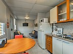 The optional kitchenette is available for an extra $100.