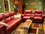 Comfy recliners and rockers built in to the sofa and loveseat
