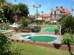Mini golf is a two minute walk away from the property.