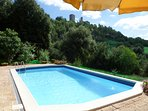 The swimming pool of the villa with view Montecastelli Pisano