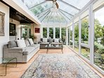 Natural light floods our large and elevated conservatory giving perfect views over the river.