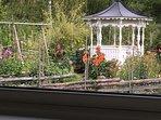 Gaden view (photo taken through cottage window).