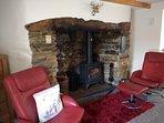 Dining/sitting room & log burner