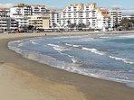 La urbanización vista desde la playa