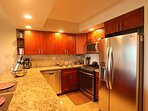 New appliances: quiet dishwasher, gas range, microwave hood, fridge/freezer.