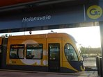 Go by tram, train or bus from Helensvale Travel Centre, within 800 metre walk