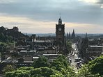 7 minutes walk to look out point on Calton Hill Park , towards Princes Street.