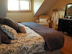 King bed in the upper bdrm.