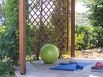 Fitness accessories for our guests. Enjoy your daily workout by the pool.