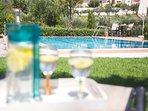 Enjoy a refreshing lemonade under the Cretan sun!