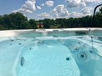 If the Barn is also booked then guests can use the large Jacuzzi situated in front of The Barn
